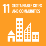 An icon for the Sustainable Development Goal 11: Sustainable Cities and Communities